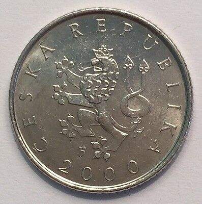 Year 2000 Czechoslovakia One Koruna Coin