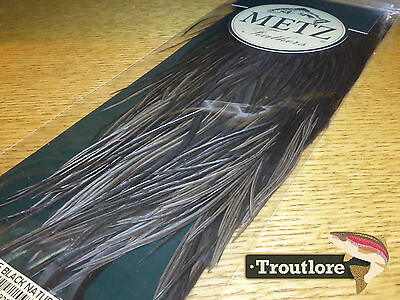 Metz Black Cock Saddle #2 For Dry & Wet Hackle - New Fly Tying Feathers