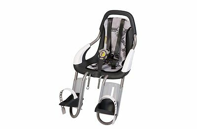 DUTCH QUALITY QIBBLE FRONT CHILD BIKE SEAT WITH SUZY STYLING SET 9 - 15kg BLACK