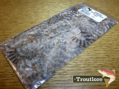 Tan Grizzly Soft Hackle Hareline Dubbin - New Fly Tying Feathers