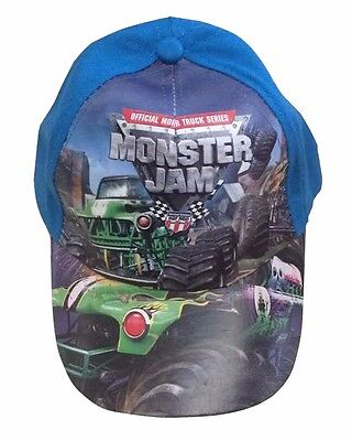 100% Cotton Kids Cap Monster Jam Blue