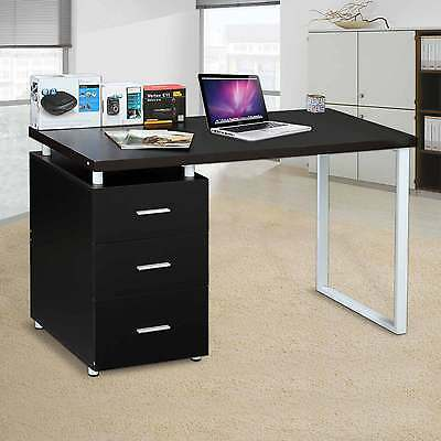 Computer Desk Home Office Corner PC Table Study Workstation White New 3 Drawer