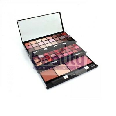 60 Piece Palette Lipgloss Eyeshadow Blusher Double Ended Applicators Blusher SET