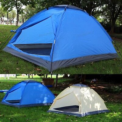 New Outdoor Fast Quick Easy Pitch 2 man Camping Sunblock Waterproof Dome Tent