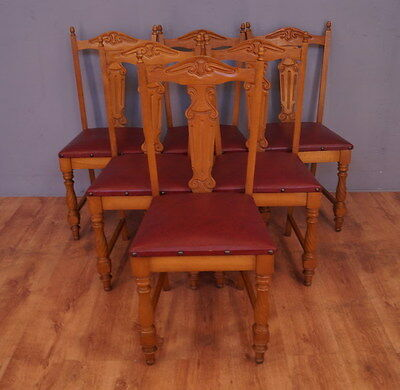 502 !! Vintage Set Of 6 Chairs In French Style !!
