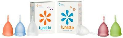 Lunette Menstrual Cup Eco Friendly Washable Re-Usable Period Moon Many Colours