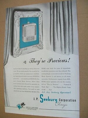 Seeburg Wall-o-maticphonograph 1945 Ad- They're Precious!
