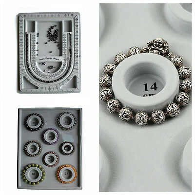 Useful DIY Craft Tools Flocked Bead Board Necklace Bracelet Jewelry Tray Design