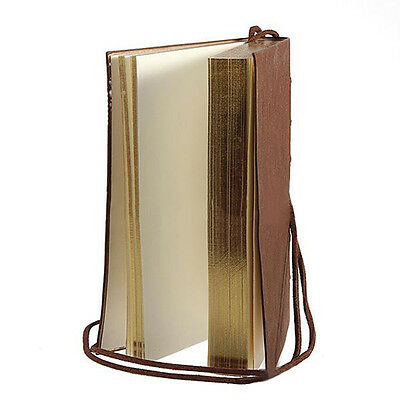 Classic Vintage Leather Bound Blank Pages Journal Diary Notebook