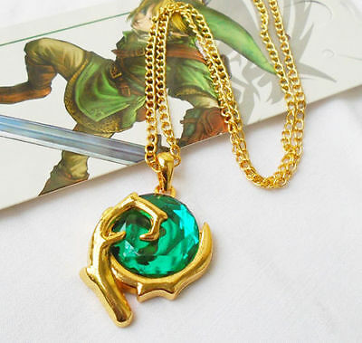 The Legend Of Zelda Green Stone Necklace Pendant