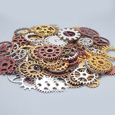 1Bag Watch Parts Retro Steampunk Jewelry Alloy Mechanical DIY Gear Accessories