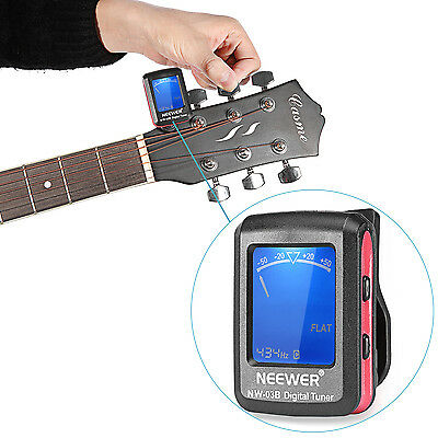 Neewer Chromatic Clip-on Tuner for Guitar Chromatic Bass Violin Ukulele FX#18