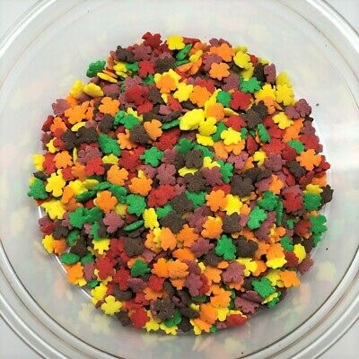 Fall Leaves Shapes Bakery Topping Sprinkles 8 ounce