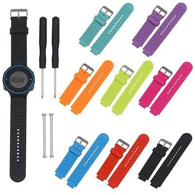 Replacement Silicone Strap Watch Band+Tools For Garmin Forerunner 230/235/220