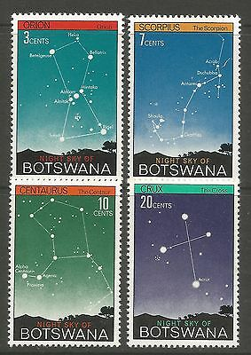 BOTSWANA. 1972. The Night Sky Set. SG: 290/93. Mint Never Hinged.