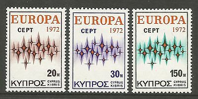 CYPRUS. 1972.  EUROPA Set. SG: 387/89. Mint Never Hinged.