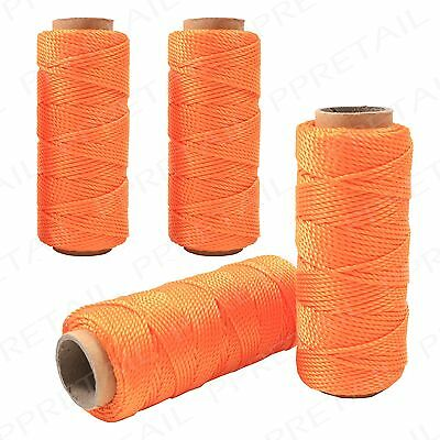 2x 50M Building Brick Laying Rope String Line Measuring Builders Masonry G3990