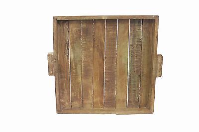 Elegant and Bold Tray Old Home Decor Old Mix Wood Z0066