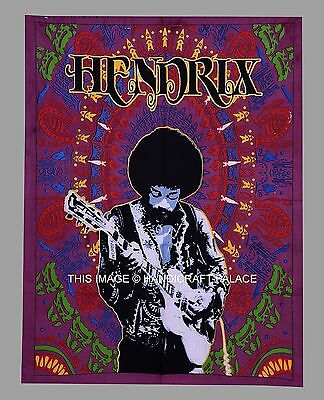 Jimi Hendrix Tapestry Large Wall Hanging Trippy hippie Throw Indian Dorm Decor
