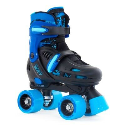 SFR Storm II Kids Adjustable Roller Skates Black Blue -FREE UK Mainland Delivery