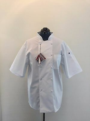 White Chef Coat Made By Chef Trends By Pinnacle Sz Medium Unisex Kitchen Coat