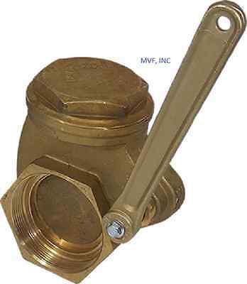 """Quick Opening Gate Valve Bronze 3"""" Npt 200 Wog Lever Operated New      Wh616"""