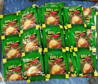50  packets -  -Bru - Instant Coffee Pouch  ---Makes 50 Cups  - FREE SHIPPING