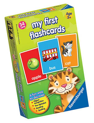 My First Flash Card 34 Educational Reading and Spelling Card Game Ravensburger