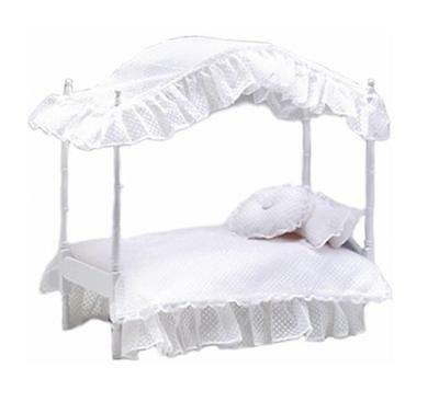 """Tiny Kitty Four Poster Canopy Bed for Tonner 10"""" Doll / BJD + 8""""-11"""" Dolls BJDs"""