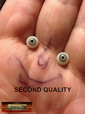 M01069 MOREZMORE SECONDS Miniature Glass Eyes 6mm GREEN GREY 6 mm Doll T20