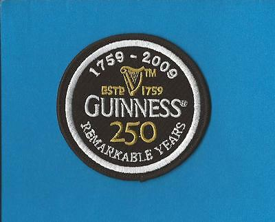 Guinness 250 Remarkable Years Beer Iron On Hat Jacket Patch Crest