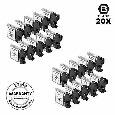 New 20 Pack LC61 LC61BK Black Printer Ink Cartridge for Brother MFC-J615W