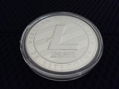 Litecoin Physical LTC .999 Silver plated Commemorative coin