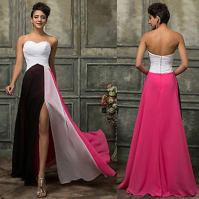 Chiffon Women Long Evening Party Ball Prom Gown Formal Bridesmaid Cocktail Dress