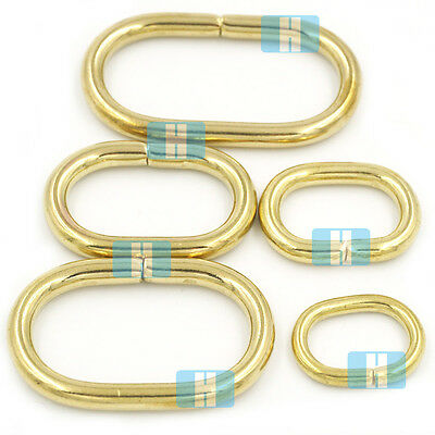 Solid Brass Loop Oval Ring Rings Non Welded Leather Purse Bag Handbag Straps