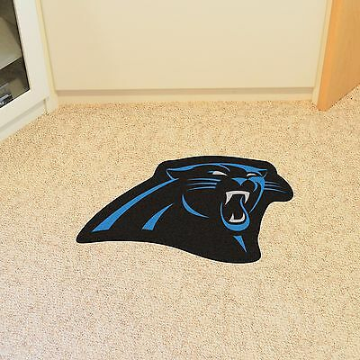 Carolina Panthers NFL Mascot Shaped Area Rug Mat Great for the Man Cave Door