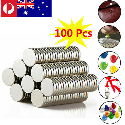 Lot 100 Pcs Strong Magnet D 10 x 2 mm Disc Cylinder Neodymium Rare Earth