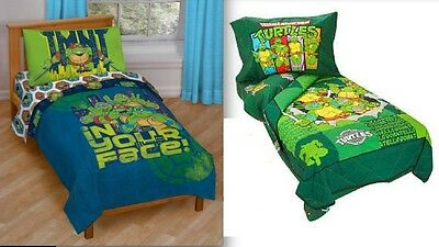New - Kids Teenage Mutant Ninja Turtles - 4 Piece Toddler Bedding Set - 3 Prints