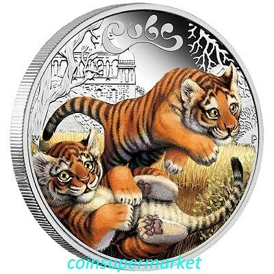 2016 Australia The Cubs – Tiger Cubs 1/2oz Silver Proof Coin Cute Perth Mint OGP