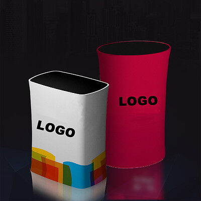 portable tension fabric trade show display counter podium table with printing