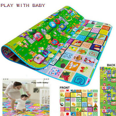 200X180CM CRAWLING Foam Soft GAME 2 SIDE KIDS PLAY MAT RUG FOAM PICNIC CARPET