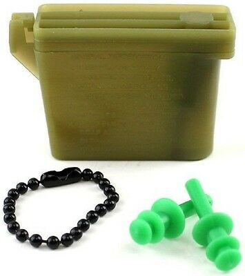 NEW Military Style Ear Plugs W// Storage Case Tactical Earplugs 23db Rothco 4707