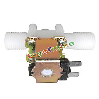 "12V DC 1/2"" N/C Electric Solenoid Valve Magnetic Water Air Normally Closed"