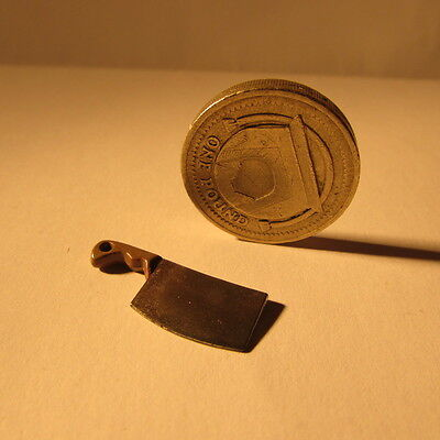 Dolls house miniature meat cleaver~1/12 scale~