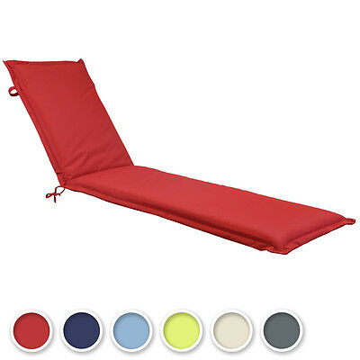 Cushion For Garden Patio Sun Lounger Sunbed-Green/Grey/Blue/Red/Cream/Light Blue