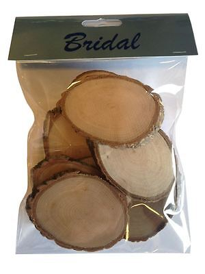 Pack of 10 Wooden Rustic Log Oval Tree Trunk Wood Pieces Slices
