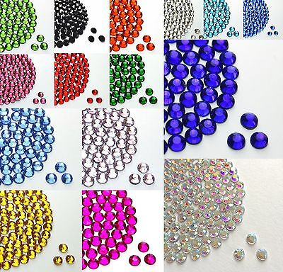 2000Pcs Crystal Flat Back Resin Rhinestones Gems 60 colors, 2mm, 3mm, 4mm, 5mm