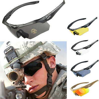 Bulletproof Tactical Goggles Army Sunglasses Eyewear Bicycle Glasses 3/4/5 Lens