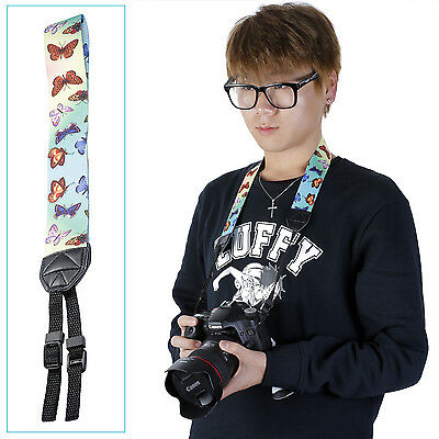 Neewer Butterfly Yellow &blue Colorful Camera Neck Nikon Dslr Strap Belt Ud#20