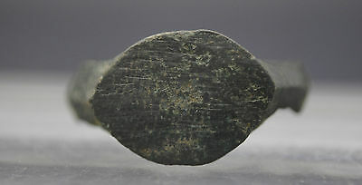 Ancient Roman Bronze Uncleaned Finger Ring 1St - 4Th Century Ad'